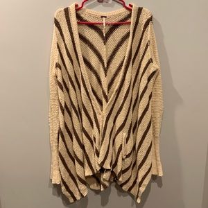Free People Oversized Cardigan with Pockets M